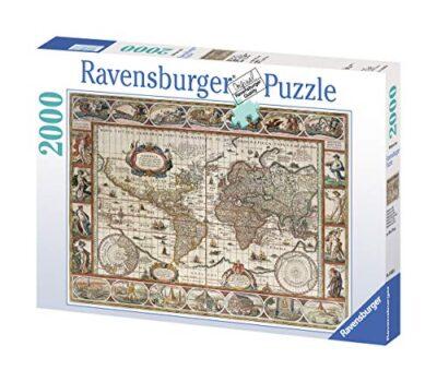 Ravensburger Puzzle 2000 Pezzi Mappamondo 1650 Collezione Carte E Mappe Jigsaw Puzzle Per Adulti Puzzles Ravensburger Stampa Di Alta Qualita Dimensione Puzzle 98x75cm 0