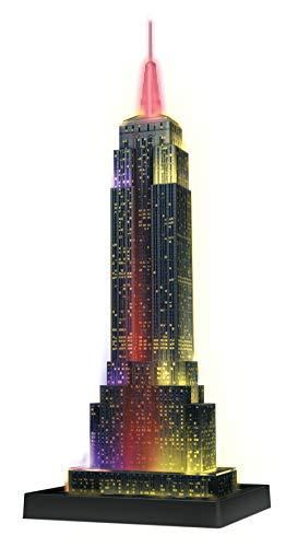 Ravensburger Puzzle 3d Empire State Building Edizione Speciale Notte 216 Pezzi Colore Nero Luce Led 12566 1 0 0