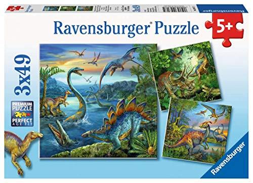 Ravensburger Puzzle 3x49 Per Bambini A Partire Da 5 Anni 18x18 Cm Dinosauri 0