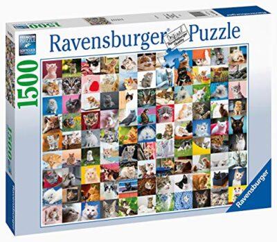 Ravensburger Puzzle Animali 99 Gatti Puzzle 1500 Pezzi Relax Puzzles Da Adulti Dimensione 80x60 Cm Stampa Di Alta Qualita Animali Cuccioli Collage 0 0