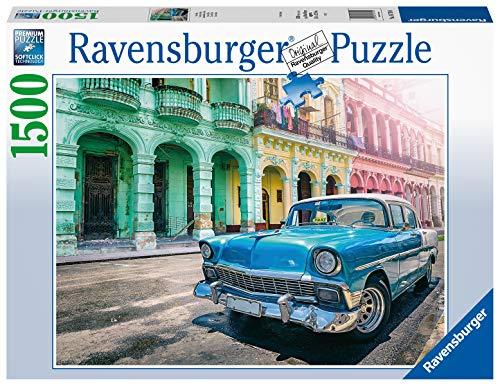 Ravensburger Puzzle Automobile A Cuba Puzzle 1500 Pezzi Relax Puzzles Da Adulti Dimensione 80x60 Cm Stampa Di Alta Qualita Travel Viaggi 0