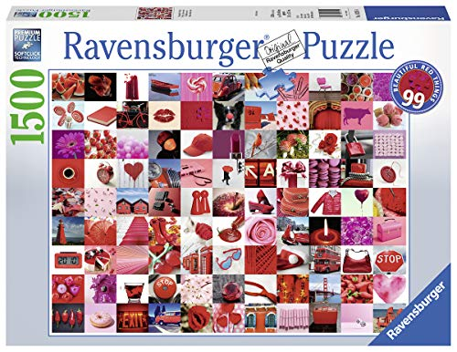Ravensburger Puzzle Collage 99 Belle Cose Rosse Puzzle 1500 Pezzi Relax Puzzles Da Adulti Dimensione 80x60 Cm Stampa Di Alta Qualita Travel Viaggi Puzzle 1500 Pezzi 0