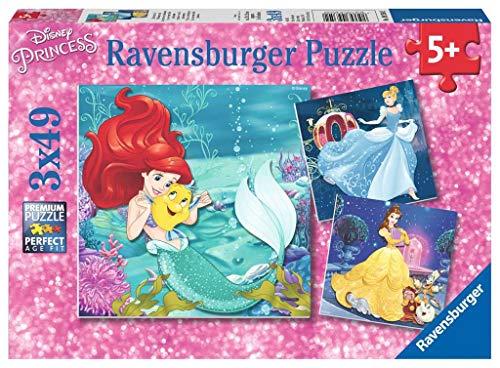 Ravensburger Puzzle Le Avventure Delle Principesse Disney Puzzle 3 X 49 Pezzi Puzzle Per Bambini Puzzle Principesse Disney Eta Consigliata 5 Anni 0