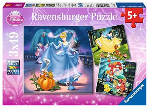 Ravensburger Puzzle Le Principesse Disney Puzzle 3 X 49 Pezzi Puzzle Principesse Disney Eta Consigliata 5 Anni 0
