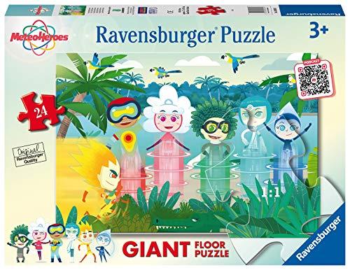 Ravensburger Puzzle Meteoheroes Puzzle 24 Giant Pavimento Puzzle Per Bambini 0