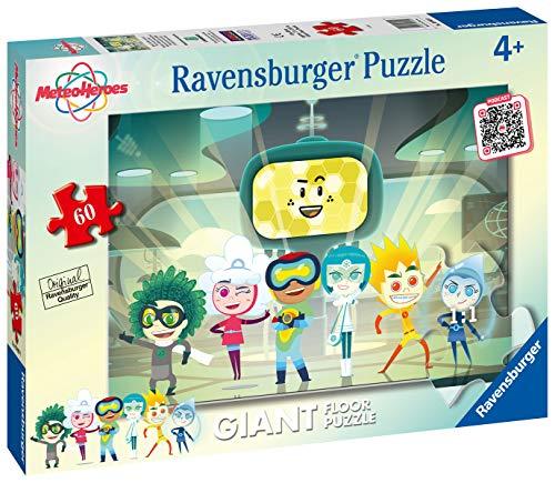 Ravensburger Puzzle Meteoheroes Puzzle 60 Pezzi Giant Puzzle Per Bambini 0 0