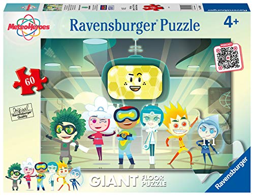 Ravensburger Puzzle Meteoheroes Puzzle 60 Pezzi Giant Puzzle Per Bambini 0