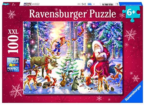 Ravensburger Puzzle Natale Nella Foresta Puzzle 100 Pz Xxl Puzzle Per Bambini 0