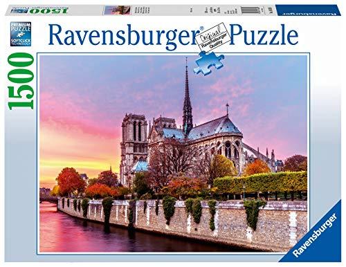 Ravensburger Puzzle Notre Dame Al Tramonto Puzzle 1500 Pezzi Relax Puzzles Da Adulti Dimensione 80x60 Cm Stampa Di Alta Qualita Travel Viaggi 0