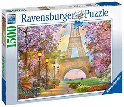 Ravensburger Puzzle Paris Amore A Parigi Puzzle 1500 Pezzi Relax Puzzles Da Adulti Dimensione 80x60 Cm Stampa Di Alta Qualita Travel Viaggi 0 0