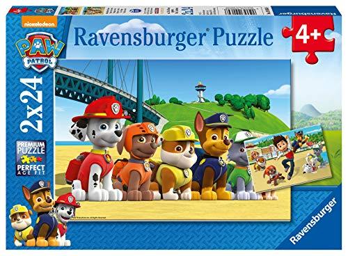 Ravensburger Puzzle Paw Patrol A Puzzle 2x24 Pz Puzzle Per Bambini 0