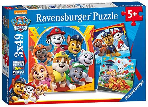 Ravensburger Puzzle Paw Patrol Puzzle 3x49 Pz Puzzle Per Bambini 0