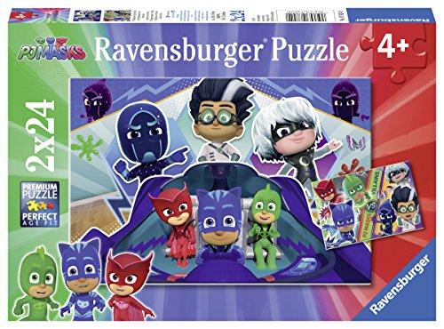 Ravensburger Puzzle Pj Mask Puzzle 2x24 Pz Puzzle Per Bambini 0