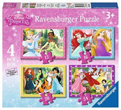 Ravensburger Puzzle Principesse Disney 4 Puzzle In A Box 12 16 20 24 Pezzi Puzzle Per Bambini Eta Consigliata 4 Anni 0