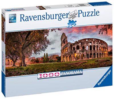 Ravensburger Puzzle Puzzle 1000 Pezzi Colosseo Al Tramonto Formato Panorama Puzzle Per Adulti Puzzle Roma Puzzle Ravensburger Stampa Di Alta Qualita 0 0