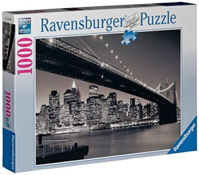 Ravensburger Puzzle Puzzle 1000 Pezzi Manhattan Puzzle Per Adulti Puzzle New York Puzzle Bianco E Nero Puzzle Ravensburger Stampa Di Alta Qualita 0