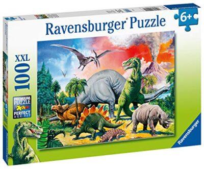 Ravensburger Puzzle Per Bambini 100 Pezzi Dinosauri Dimensione Puzzle 49x36 Cm Puzzle Per Bambini A Partire Dai 6 Anni 4005556109579 0 0