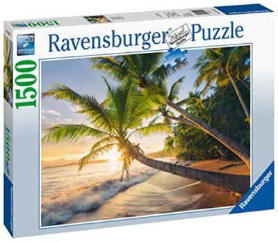 Ravensburger Spiaggia Segreta Puzzle 1500 Pezzi Relax Puzzles Da Adulti Dimensione 80x60 Cm Stampa Di Alta Qualita Travel Viaggi 0 0