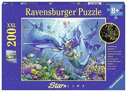 Ravensburger Spieleverlag Leuchtendes Unterwasserparadies 200 Teile Xxl Kinderpuzzle Puzzle Fur Kinder Ab 8 Jahren Leuchtet Im Dunkeln Bambini Colore Verde Tealturchese 136780 0