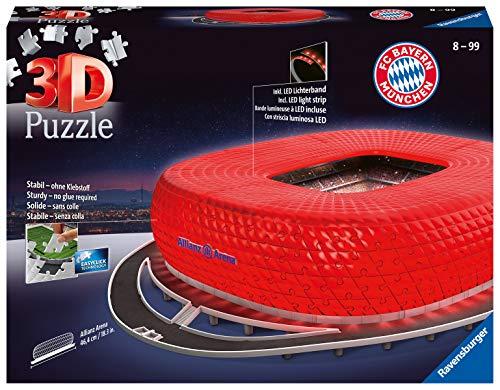 Ravensburger Spieleverlag Puzzle 3d 216 Pieces Stade Allianz Arena Illumine Alleanza Notte Colore Altri 12530 0