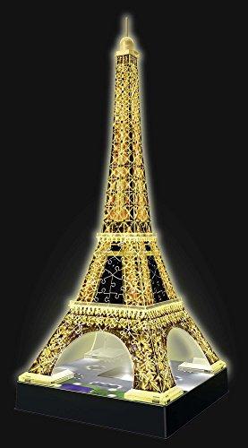 Ravensburger Tour Torre Eiffel Puzzle 3d Con Led Edizione Speciale Notte 216 Pezzi Multicolore 12579 0 1