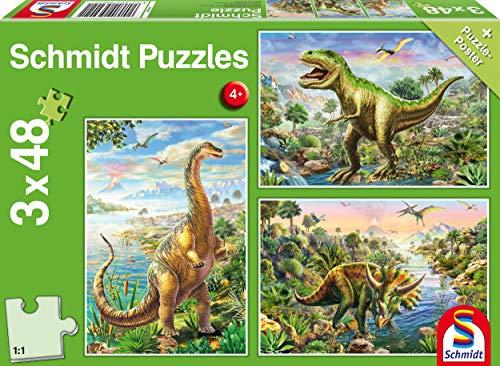 Schmidt Puzzle Avventura Con I Dinosauri 3 X 48 Pezzi 56202 0