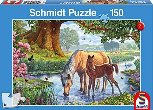 Schmidt Puzzle Cavalli Al Ruscello 150 Pezzi 56161 0