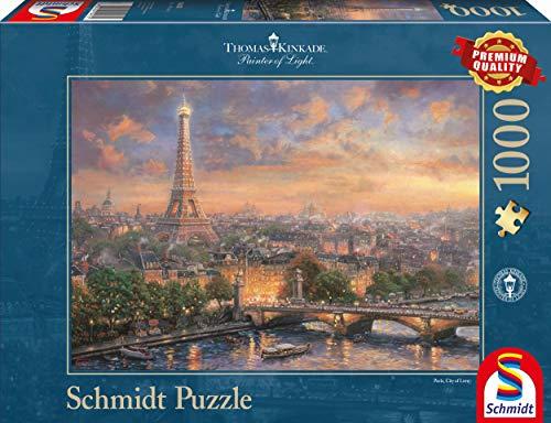 Schmidt Puzzle Parigi Citta Dellamore Thomas Kinkade 1000 Pezzi 59470 0