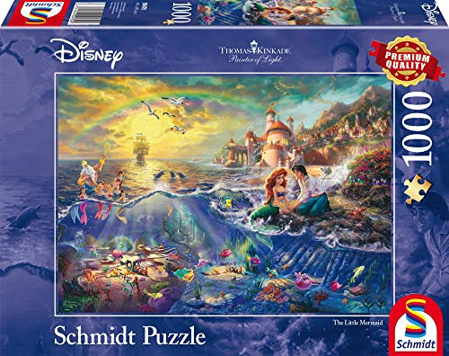 Schmidt Puzzle La Sirenetta Ariel Thomas Kinkade 1000 Pezzi 59479 0