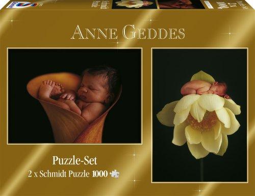Schmidt Spiele Anne Geddes 2 X Puzzle Da 1000 Pezzi 0