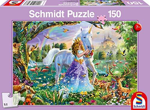 Schmidt Spiele 56307 Puzzle Da 150 Pezziprincipessa Con Unicorno E Serratura Multicolore 0