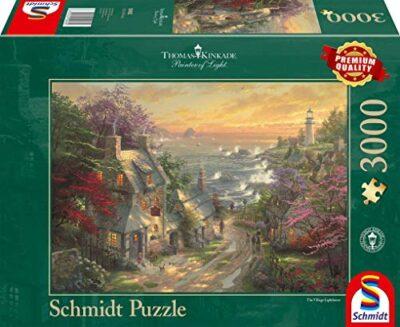 Schmidt Spiele 59482 Puzzle Da 3000 Pezzi Villaggio Al Faro Thomas Kinkade Multicolore 59482 0