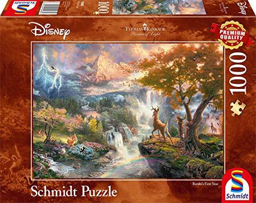 Schmidt Spiele 59486 Puzzle Thomas Kinkade Disney Bambi 1000 Pezzi Multicolore 59486 0