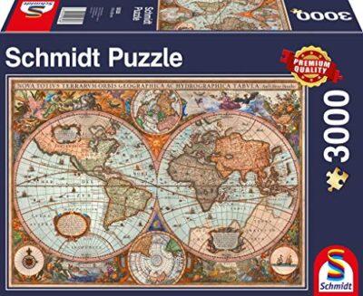 Schmidt Spiele Antica Mappa Del Mondo Puzzle Da 3000 Pezzi Multicolore 58328 0