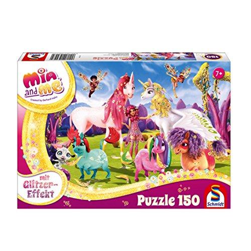 Schmidt Spiele Gmbh Mia Me Puzzle Glitterato Con Unicorno Pony 150 Pezzi 56247 0