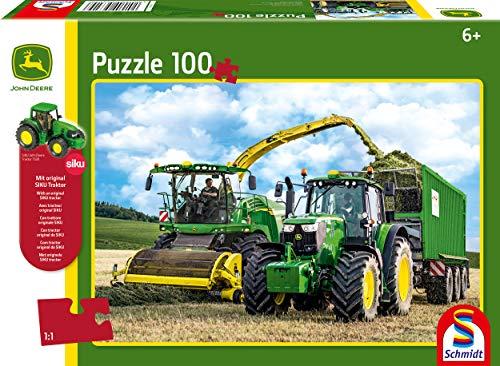 Schmidt Spiele John Deere 6195m Puzzle Da 100 Pezzi Con Trattore Siku Multicolore 56315 0