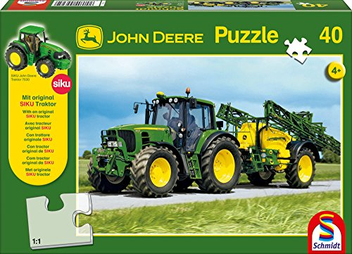 Schmidt Spiele Puzzle Bambino 200 Pezzi John Deere Trattore 7530 Con Carrobotte Con Trattore Originale Siku 0