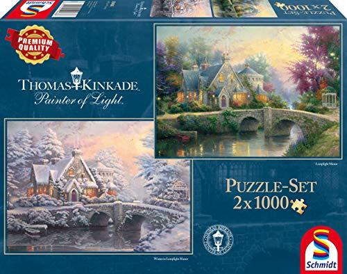 Schmidt Spiele Puzzle Per Adulto Lamplight Manor E Inverno A Lamplight Manor 2x1000 Pezzi 0