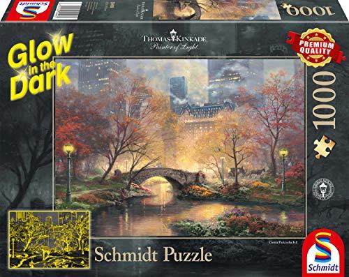 Schmidt Spiele Thomas Kinkade Central Park In Autunno Glow In The Dark Puzzle Da 1000 Pezzi Multicolore 59496 0