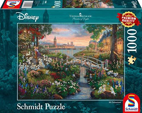 Schmidt Spiele Thomas Kinkade Disney 101 Dalmata Puzzle 1000 Pezzi Multicolore 59489 0