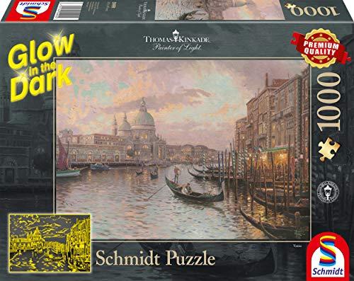 Schmidt Spiele Thomas Kinkade Puzzle Da 1000 Pezzi Le Strade Di Venezia Glow In The Dark Multicolore 59499 0