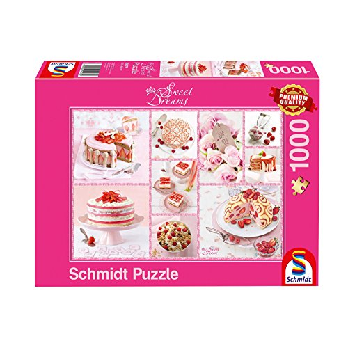 Schmidt Spiele Torta Rosa Sweet Dreams Puzzle 1000 Pezzi 59576 0