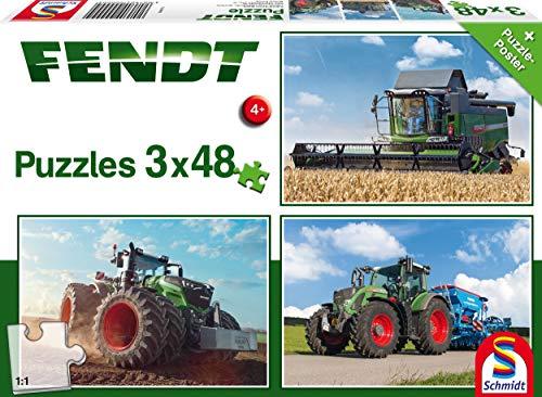 Schmidt Spiele Traktor 3 X 48 Kinderpuzzle 56221 Puzzle Colore Beige Fendt 1050 724 Vario 6275l 3x48 Teile 56221 0