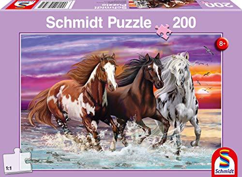 Schmidt Spiele Wildes Trio Cavallo Puzzle Per Bambini 200 Pezzi Multicolore 56356 0