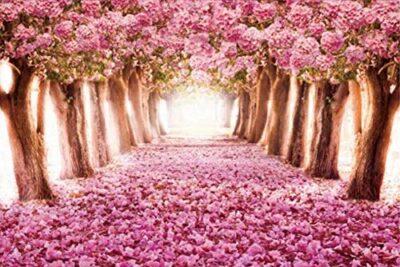 Superpower Spring Cherry Trees Forest Landscape Romantic Pink Sakura Avenue 1000 Pezzi Giocattoli Per Adulti In Legno Dipinto Ad Olio Puzzle Con Finitura 762 X 508 Cm 0