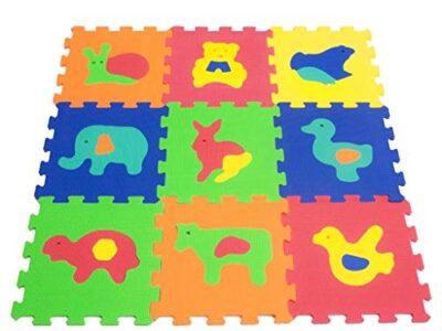 Teorema 72475 Tappeto Puzzle Con Animali Colori Assortiti 9 Pezzi 0 0