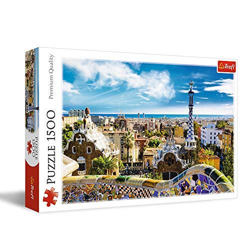 Trefl 26147 1500pcs Puzzle Puzzles Buildings Children Park Guell Barcelona Boygirl 12 Yrs Cardboard 0