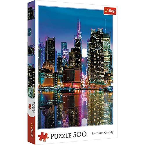 Trefl Puzzle Luna Piena Su Manhattan Trf37261 0