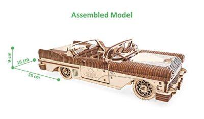 Ugears Dream Cabriolet Modellino Auto In Legno Puzzle 3d Per Adulti Modello Meccanico Rompicapo In Legno Per Adulti Kit Di Costruzione Giocattolo 0 0