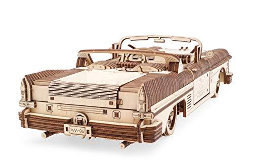 Ugears Dream Cabriolet Modellino Auto In Legno Puzzle 3d Per Adulti Modello Meccanico Rompicapo In Legno Per Adulti Kit Di Costruzione Giocattolo 0 2